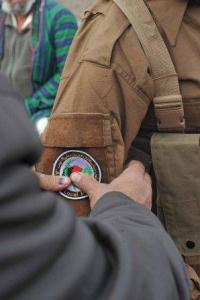 ALP Policeman Receives ALP Patch at Graduation in Afghanistan