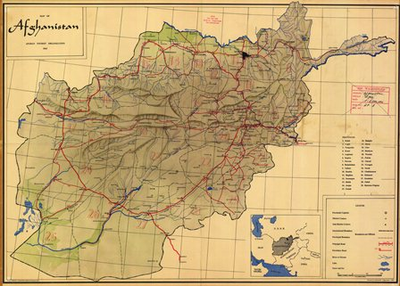 Afghanistan Topo Map 1965