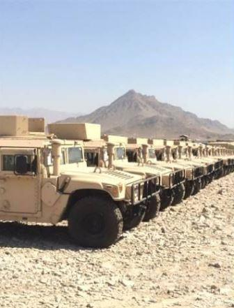 Vehicles Transferred to 215th ANA Crops in Helmand province, Afghanistan