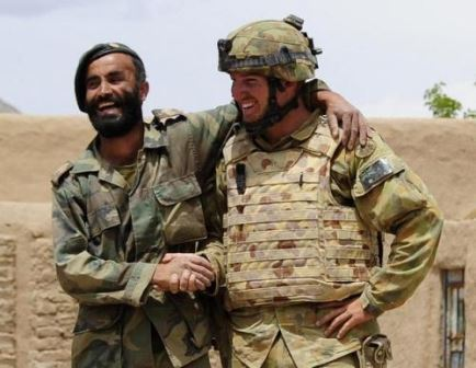 Australian Partnering with Afghan Soldier