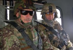 LTC William Nuckols of TAC 1 NoK with Afghan Counterpart