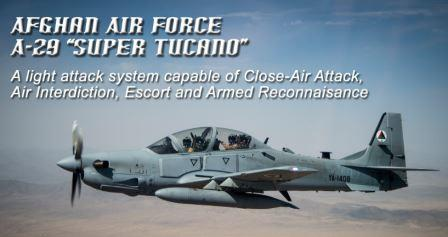 A-29 Super Tucano of Afghan Air Force