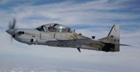 AAF pilot in training flying A-29 Super Tucano at Moody AFB