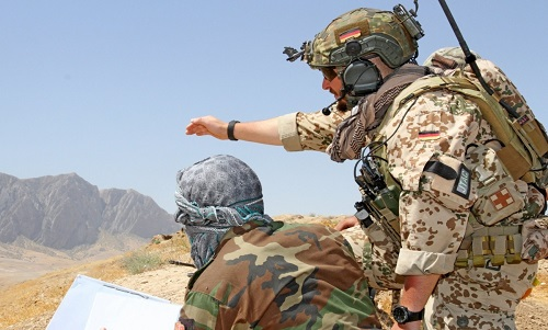 German Advisor Training Afghan JTAC in TAAC North