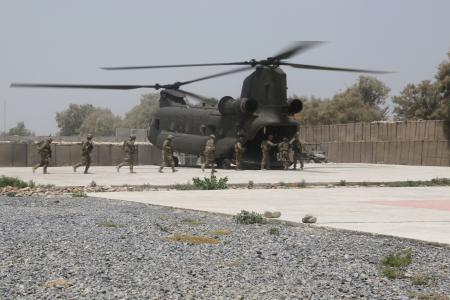 SFAAT traveling to work on CH-47 in Afghanistan