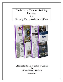 Common Training Standards for Security Force Assistance (SFA) January 2014