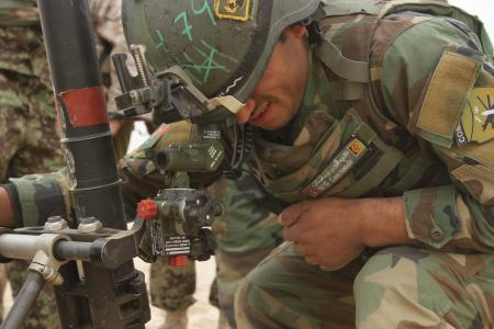 ANA Soldier sighting in a 60mm mortar
