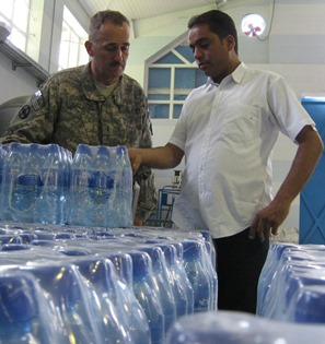 Afghan Bottled Water Plant is inspected U.S. military.