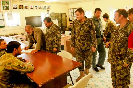 Members in Operational Coordination Center - Provincial Uruzgan.